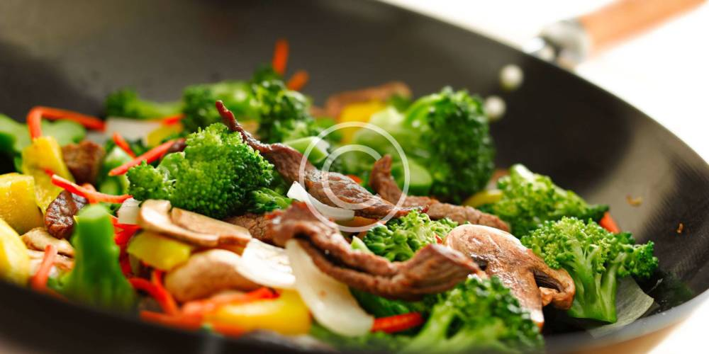 Baked Beef with Steamed Vegetables